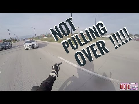 Craziest police chase! Karma is a bit**!