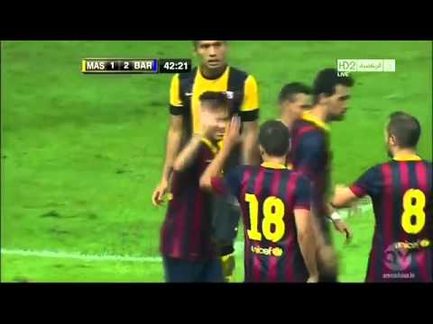 FC Barcelona Vs Malaysia XI (3 - 1) All Goals And Full Highlights 10_8_2013 HD