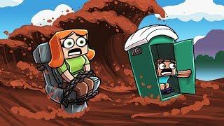 POOP TSUNAMI BASE CHALLENGE! (Minecraft Tsunami Base)