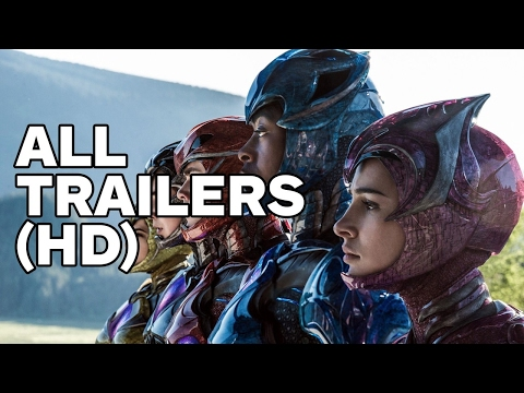 Power Rangers - All Trailers (2017)