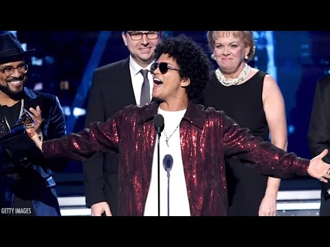 Bruno Mars Racks Up Grammy's and Wins Album Of The Year | 2018 Grammys