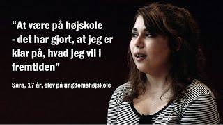 Mød Sara på 17 år, som fortæller om hendes højskoleophold på en Ungdomshøjskole. Der er to ungdomshøjskoler i Danmark,...