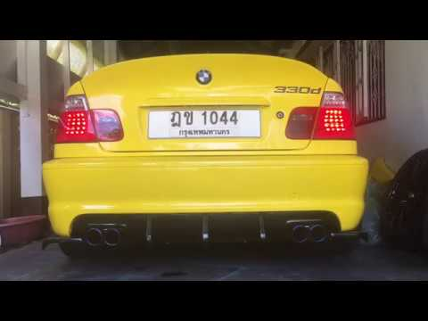 BMW E46 330d Exhaust Sound Bypass Vale OFF/ON