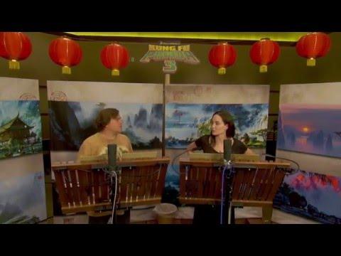 Kung Fu Panda 3: Angelina Jolie & Jack Black Behind the Scenes Voice Acting