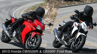 10. MotoUSA 2013 Honda CBR500R & CB500F First Ride