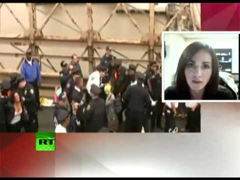Occupy Wall Street on Brooklyn Bridge, 700 protesters arrested