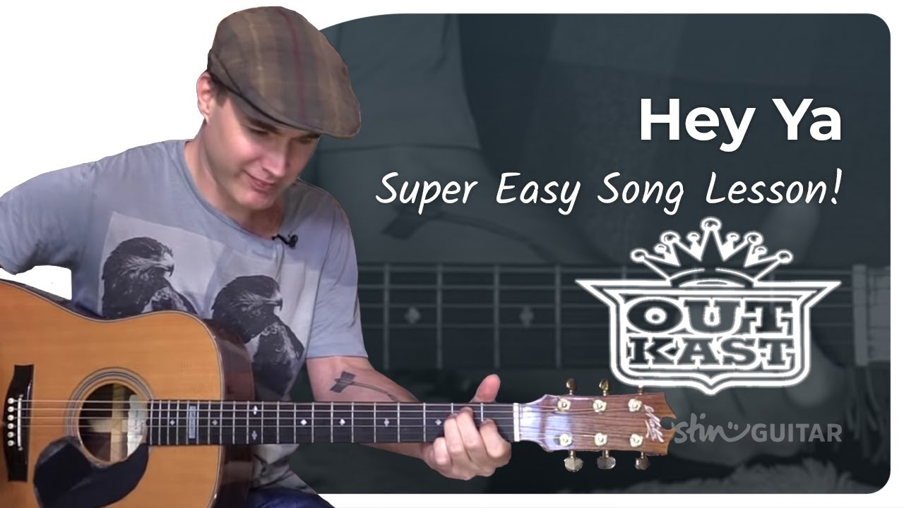 Hey Ya – Outkast – Easy Beginner Song Guitar Lesson (BS-303) How to play