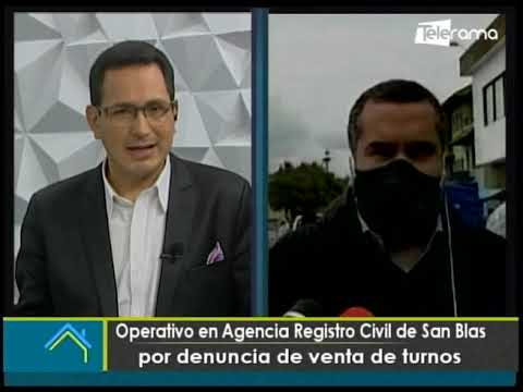 Operativo en Agencia Registro civil de San Blas por denuncia de venta de turnos