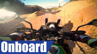 Kawasaki Versys 650 onboard │ first ride 2017 │ offroad #presslaunch