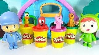 Pocoyo português Brasil - Pocoyo e Nina se Divertem com Massinhas Play Doh Brinquedos Surpresa Pato Fred Elly Loula