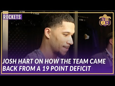 Video: Lakers Post Game: Josh Hart Talks About how the Team Came Back from a 19 Point Deficit