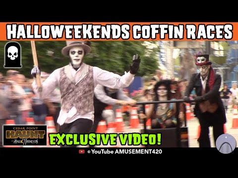 Coffin Races & Screamsters Inaugural Year EXCLUSIVE VIDEO & PICS! Cedar Point HalloWeekends 2015 (видео)