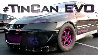 Crazy #TinCan Evo Stock ECU World Record - 8.7@165mph by  That Racing Channel
