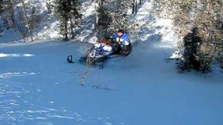 9. Artic Cat Bearcat 570 hill climb in 3 feet of snow