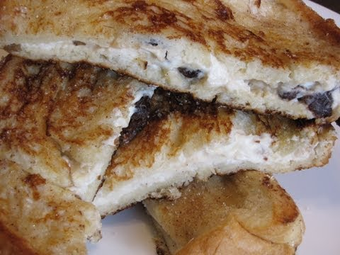 French Recipe: French Toast Stuffed with Cream Cheese and Raisins Recipe