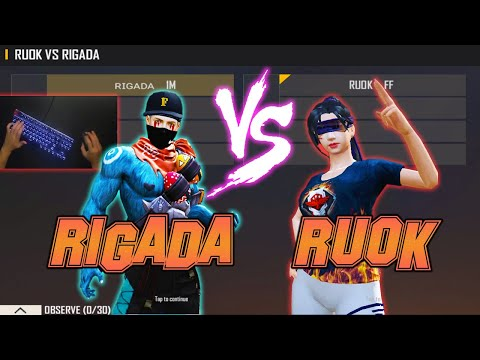 RUOK FF VS RIGADA | HACKER VS AIMBOT FREE FIRE - MOST DANGEROUS ROOM