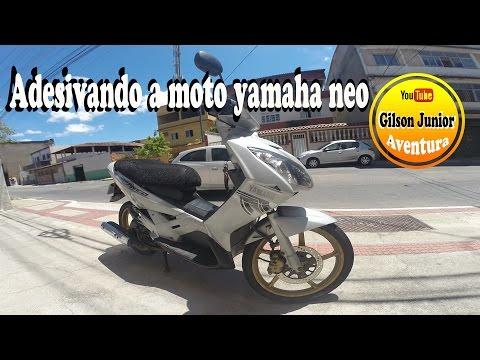Adesivando a moto Yamaha NEO