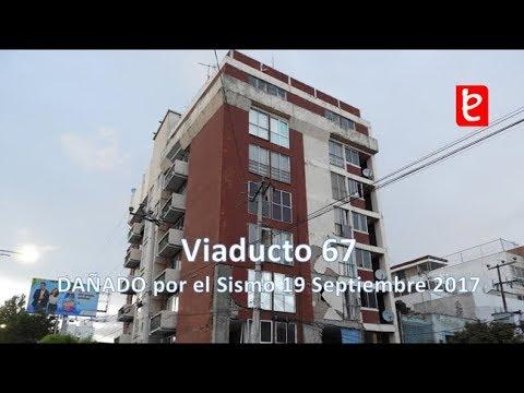 Daños en el Edificio Viaducto 67, CDMX (Sismo 19/09/17) | www.edemx.com (видео)