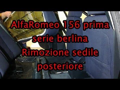 Rimozione sedile posteriore Alfa Romeo 156 prima serie berlina