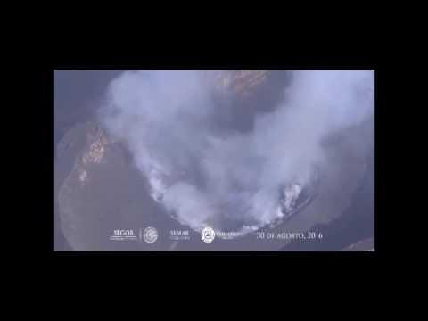 Sobrevuelo en el volc�n Popocat�petl - Agosto 30, 2016