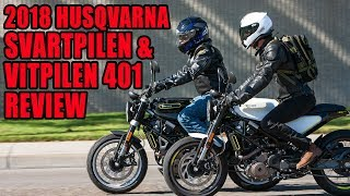 1. 2018 Husqvarna Svartpilen And Vitpilen 401