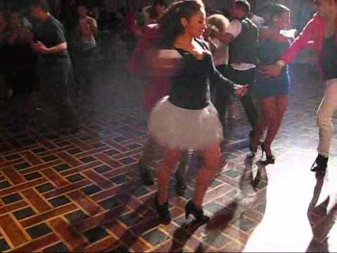 Juan Matos Social dancing with  Karem Ruiz at the 1st Big Apple Salsa Festival