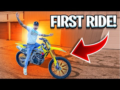 RIDING MY LITTLE BROTHERS NEW RMZ 450 FOR THE FIRST TIME ! | BRAAP VLOGS