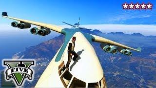 GTA 5 CARGO PLANE!!! - GTA Military Jets, Blimps & Cargo Plane!!! - Grand Theft Auto 5