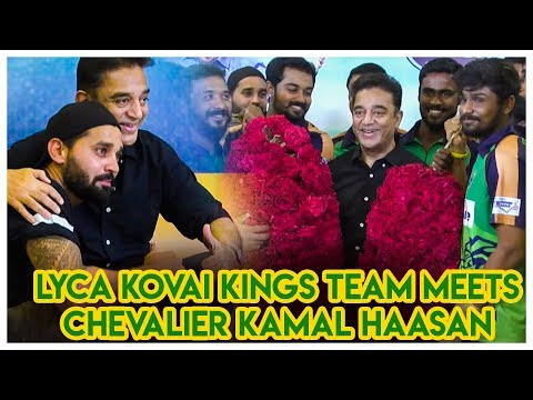 Lyca-Kovai-Kings-team-Meets-Chevalier-Kamal-Haasan-Lyca-Kovai-Kings-Lyca