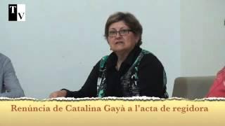 Renúncia de Catalina Gayà a l'acta de regidora