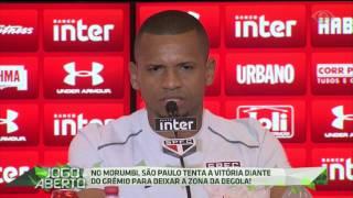 Caso vença o vice-líder Grêmio, na noite de hoje (24), em casa, o tricolor paulista deixa a zona de rebaixamento.