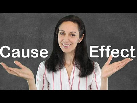 Linking Words of Cause & Effect - English Grammar Lesson