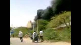 Orai India  city photo : Old Memories Fire in a Tyre Factory in Orai UP India 001