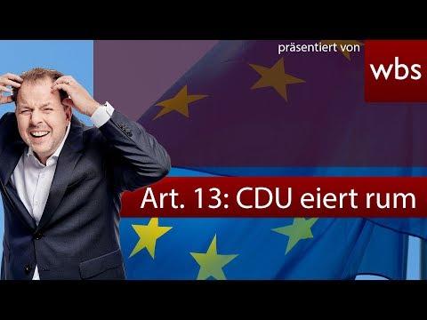 Artikel 13: CDU will das Unmögliche