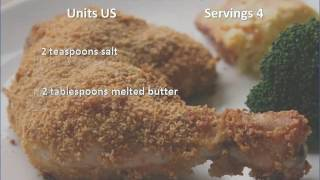 http://relaxbuddy.com Oven Fried Chicken With Corn Flakes recipe.