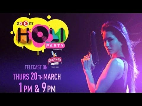 zoOm Holi Party 2014 - Promo | Celebrate with Sunny Leone 13 March 2014 01 PM