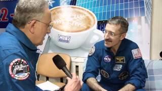 Expedition 30 Commander Dan Burbank of NASA, Russian Soyuz Commander Anton Shkaplerov and Flight Engineer Anatoly...