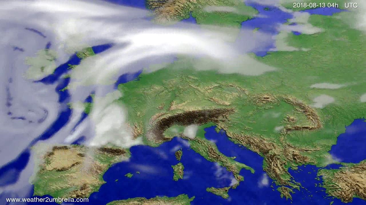 Cloud forecast Europe 2018-08-09