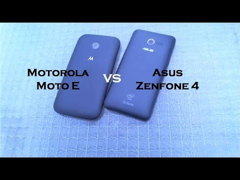 Motorola Moto E vs Asus Zenfone 4