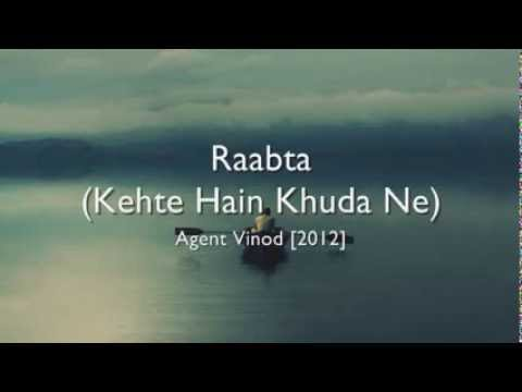 Raabta (Kehte Hain Khuda Ne) - Agent Vinod [hindi lyrics - english translation]