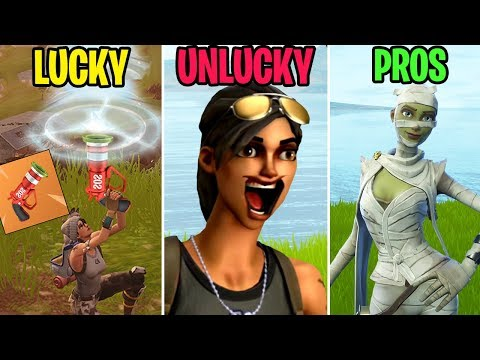 LOL THIS LAUGHING EMOTE! LUCKY Vs UNLUCKY Vs PROS! Fortnite Funny Moments