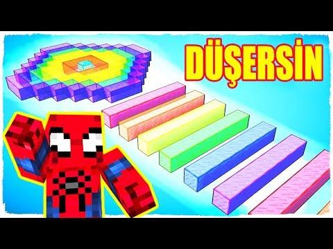 DURURSAN RENKLİ ÇUBUKTAN DÜŞERSİN ÖRÜMCEK ADAM - Minecraft