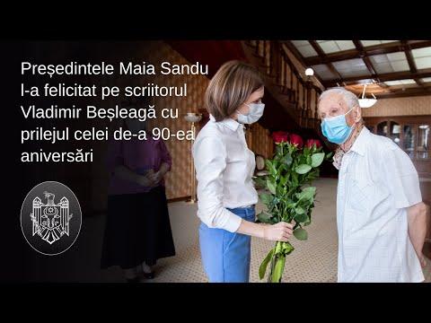 Președintele Maia Sandu a discutat cu scriitorul Vladimir Beșleagă