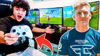 Little Brother Wins A Duo Pop-Up Cup With FaZe Tfue's Controller!