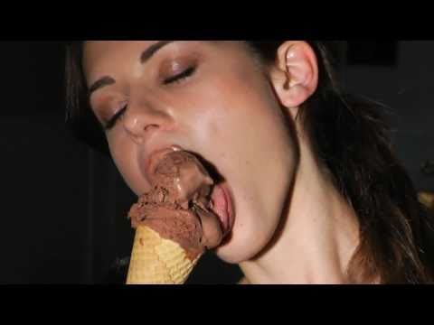 Hot chick licking ice cream... nuff said...
