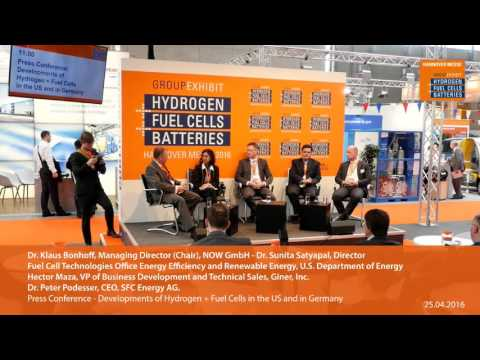 Developments of Hydrogen + Fuel Cells in the US and in Germany