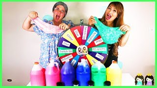Video Giant Mystery Wheel 3 Colors of Slime Glue Switch Up Challenge with Greedy Granny MP3, 3GP, MP4, WEBM, AVI, FLV Juni 2018