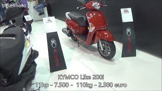 10. The KYMCO Like 200i scooter 2017