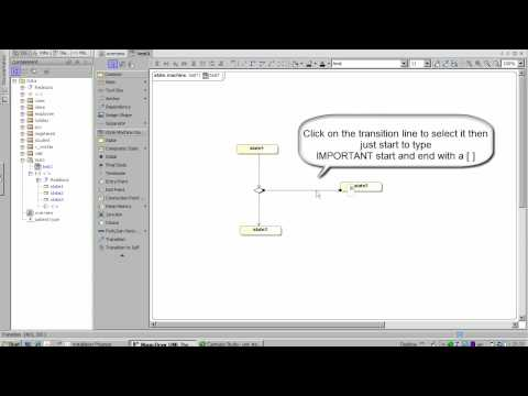 how to add guards to state diagram transitions in Magicdraw