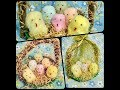 How To Make Cute Birds In Nest Crafts Using Cotton and Newspaper   DIY Birds Nest Home Decor Craft 